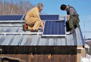Установка солнечных батарей на частный дом
