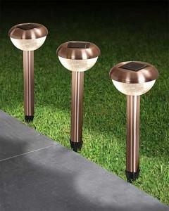 Светильники для улицы на солнечных батареях