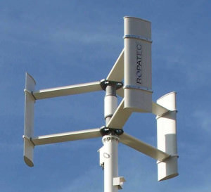Ветрогенератор с ротором Дарье