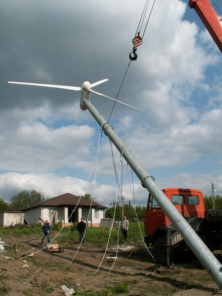 Подъем ветрогенератора