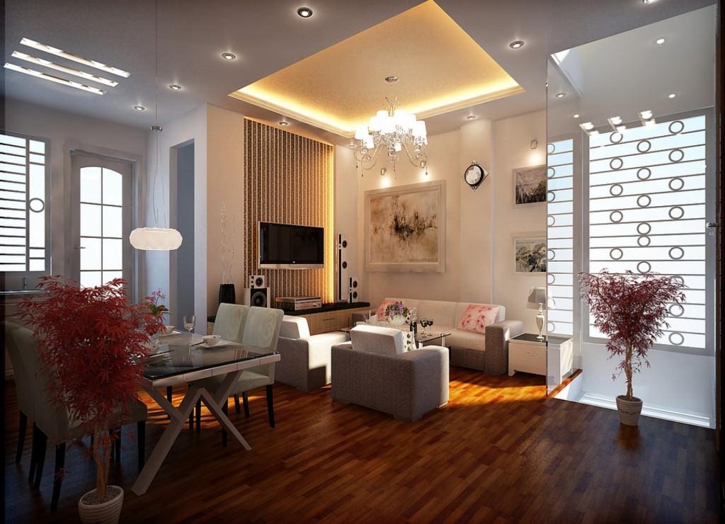 квартира со светодиодным освещением