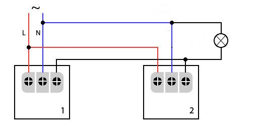 схема подключения двух датчиков движения