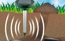 Отпугиватель для кротов на солнечных батареях