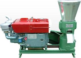Пресс-гранулятор с дизельным двигателем