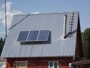 Солнечная электростанция на даче