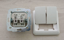 Как самостоятельно подключить двойной выключатель?