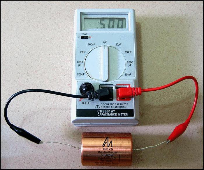 Проверка емкости конденсатора щупиками