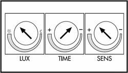 регулировочные кнопки датчика движения