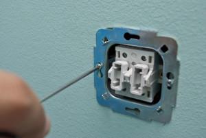 установка двойного выключателя