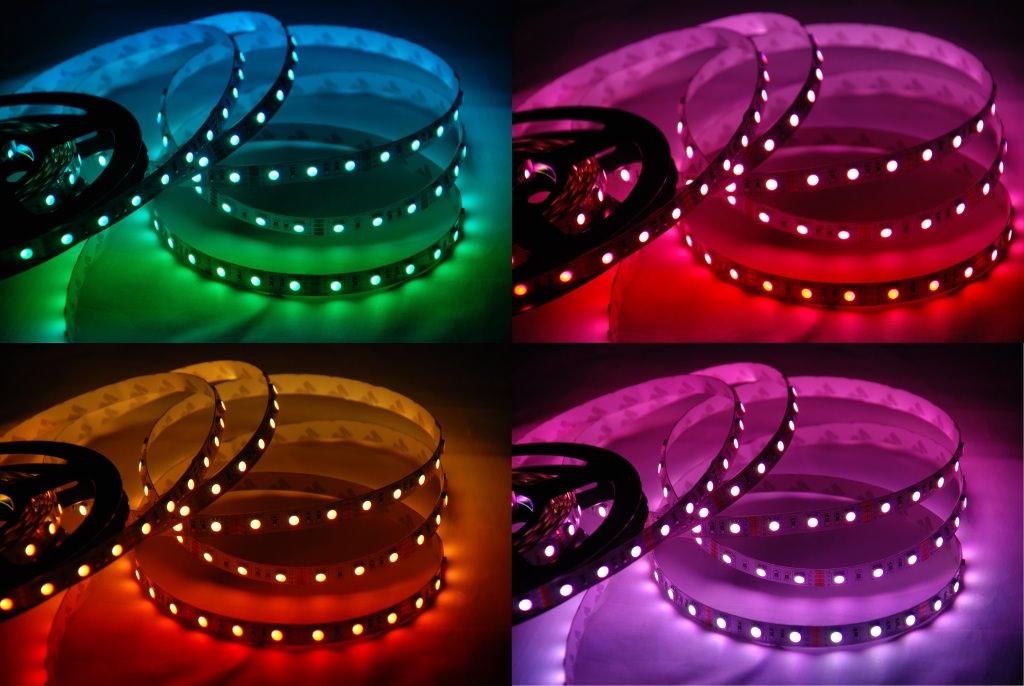 многоцветные светодиодные ленты