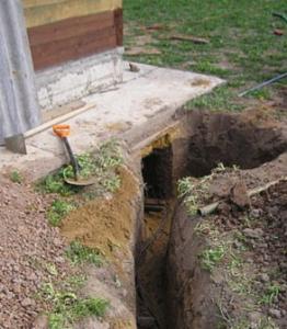 земляная прокладка проводов